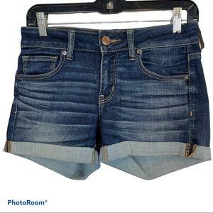 American Eagle Denim x Cafe Midi Shorts Size 4